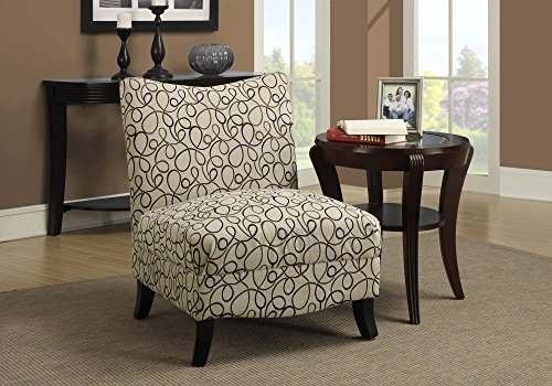 Monarch Swirl Fabric Accent Chair, Tan For Sale
