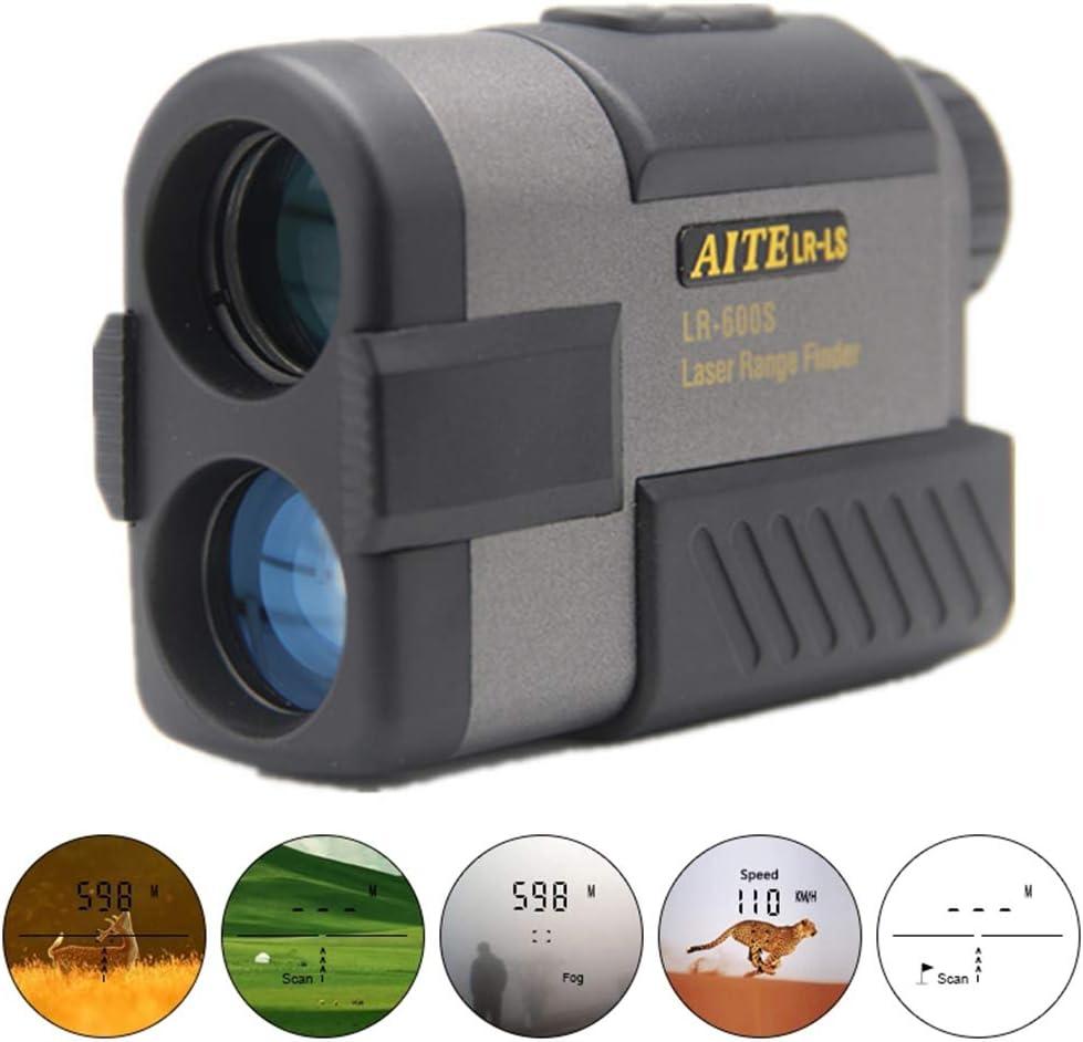 L.tsn Telémetro De Golf, Localizador Laser Compensación De Pendientes Escaneo De Angulo, Black