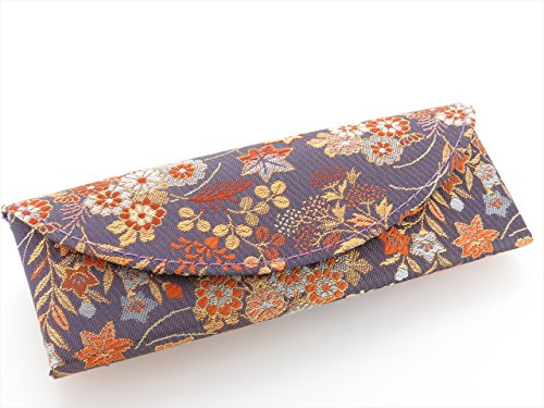 Glasses case Kimono Nishijin magnet type semi-hard Japanese-made handmade - Eyeglasses Japanese