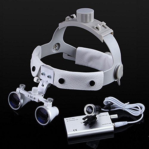 Zgood Dental White LED Head Light + Dental Surgical Glasses Binocular Loupes DY-108 3.5X-R by Zgood (Image #6)