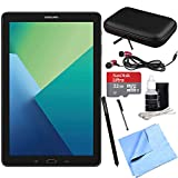 Samsung Galaxy Tab A 10.1 Tablet PC Black w/ S Pen 32GB Bundle includes Tablet, 32GB MicroSDHC Card, Microfiber Cloth, Cleaning Kit, Stylus Pen with Clip, Hard EVA Case with Zipper for Tablets