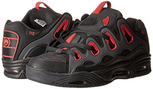 Osiris D3 2001 Black/Black/Red Shoe