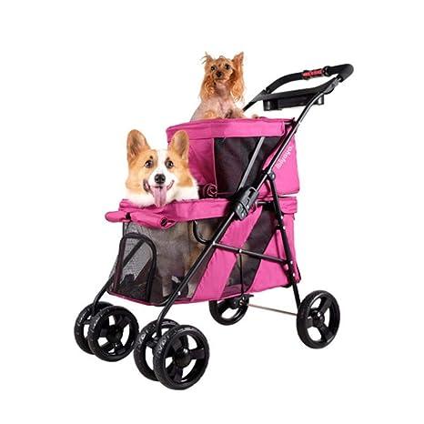 Axiba Cochecito para Mascotas Carro Perro Dos Pisos Plegable Coche Madre