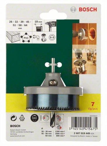 Bosch 2607019449 - Set con 7 coronas