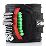 #4: Magnetic Wristband, Sellemer 15 Strong Magnets Wrist Band Pocket for Holding Tools Screws, Nuts, Nails, Drill Bits, Best Gift Armband Tool for Men, DIY Handyman, Father, Husband (Upgraded)