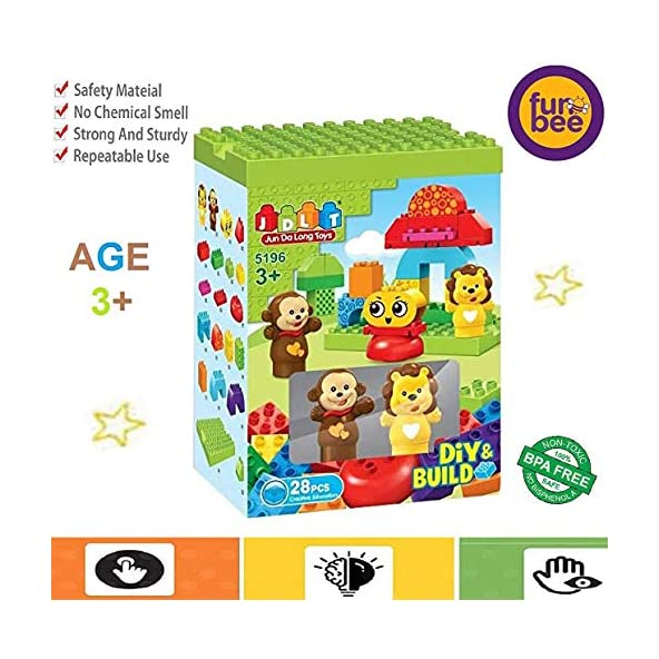 Baybee Kids Building Blocks for Kids Play Set withToys Building Blocks for Baby Block Games for Kids Learning Toy for Kids Educational Toys for Baby Gift/Activity Toys for Kids (28 Pcs)