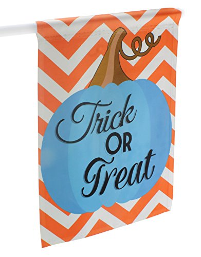 Halloween Teal Pumpkin Trick or Treat Outdoor Garden Flag Sign (Halloween Sign For Trick Or Treaters)