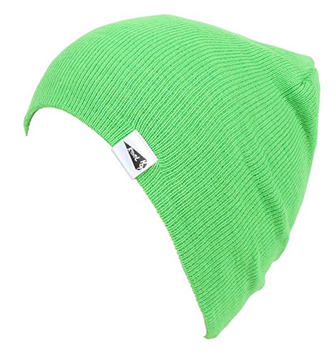 KooL Hop Kids Boys Girls Baby 100% Pure Cotton Knit Basic Beanie Hat Cap (Green Knit Beanie Cap Hat)