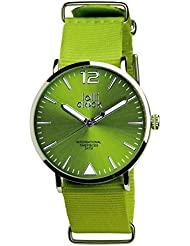 Womens Watch - Luminous Color-Dial Analog Round Face Watch - Light Green