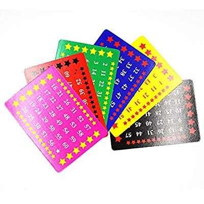 OUERMAMA Six Gimmick Number Cards Professional Magic Tricks Easy Card Magic Props Fun Illusion Cards Magic Mentalism Card Tricks for Halloween, Birthday Party, Christmas, School Show: Toys & Games