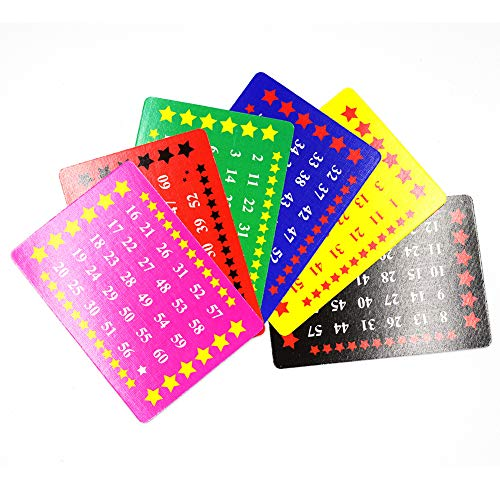 OUERMAMA Six Gimmick Number Cards Professional Magic Tricks