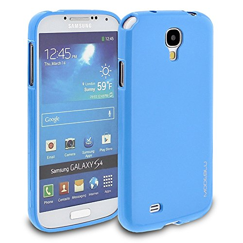 Galaxy S4 Case, ModeBlu [Gel Case Series] [Sky Blue] Protective Case Bumper Slim Fit Shock Absorbent Cover [Drop Protection] for Samsung Galaxy S4