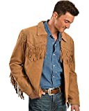 Scully Men's Fringed Suede Leather Short Jacket Bourbon Medium