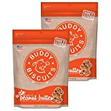 Buddy Biscuits Soft & Chewy Dog Treats with All Natural Peanut Butter (2 Pack) 20 oz Each