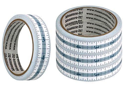 (Measure-It 48 Inch Self-Adhesive Measuring Tape - 4 Pack)