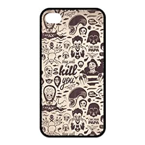 Cool iPhone 4S Case, StarWars Hard TPU Rubber Snap-on Case for iPhone 4S
