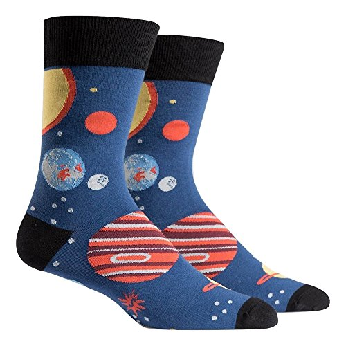Sock It To Me, Planets, Men's Crew Socks, Outer Space Solar System Socks