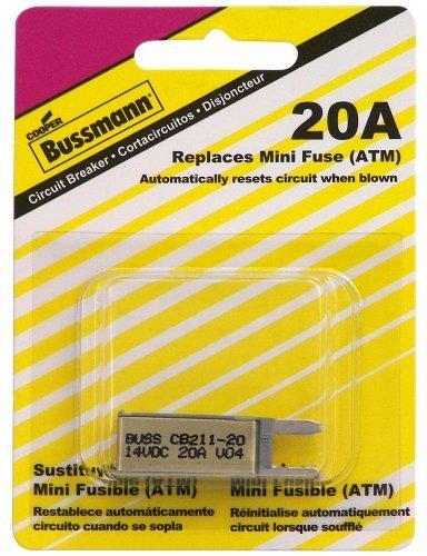 (Bussmann (BP/CB211-20-RP) 20 Amp Type-I ATM Mini Circuit Breaker)