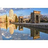 Pitaara Box Temple Of Debod, Madrid, Spain Unframed Canvas Painting 48 x 32inch
