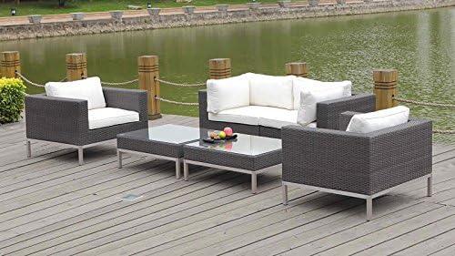 talfa Juego de muebles lounge Le Havre – Java: Amazon.es: Jardín