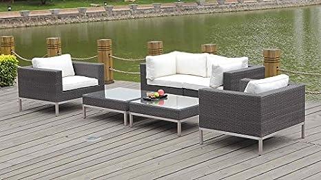 talfa Juego de muebles lounge Le Havre - Java: Amazon.es: Jardín