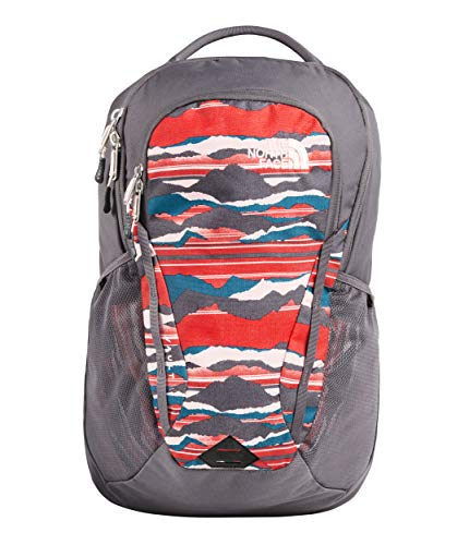 The North Face Women's Women's Vault Backpack Juicy Red Landscape Stripe Print/Rabbit Grey One -