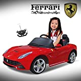 LICENSED By FERRARI F-12 Ride On Car with Remote Control Red Color 12V