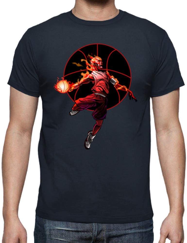 latostadora - Camiseta Basketball Baloncesto para Hombre Azul ...
