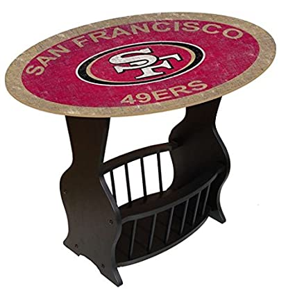 Superbe Fan Creations N0818 SFF San Francisco 49Ers Distressed End Table
