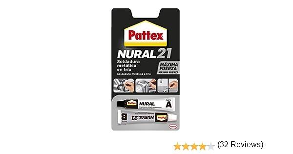 Pattex Nural 21, soldadura reparadora metálica en frío, pega&repara, 22 ml: Amazon.es: Industria, empresas y ciencia