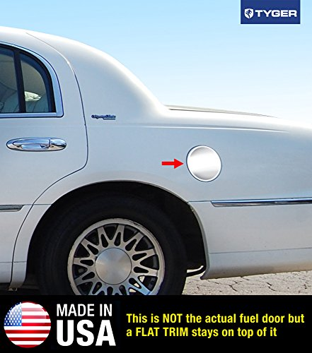 Tyger Auto Made in USA! Works with 1998-2015 Lincoln Towncar Gas Cap Chrome Stainless Steel Fuel Cover ()