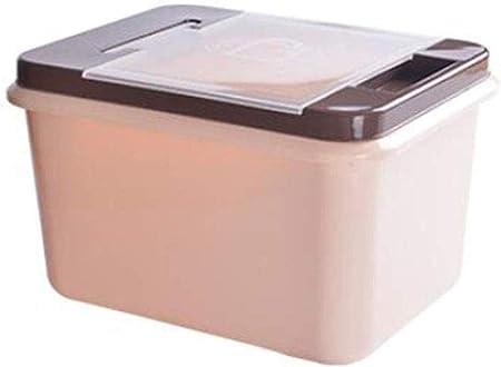 Salud Rice Box almeja arroz Cubo de arroz Caja de Almacenamiento hogar de Materiales plásticos arroz Cilindros y Caja de arroz Harina de Arroz Cubo Proteger (Size : 34 * 19.5 * 26.5cm): Amazon.es: Hogar