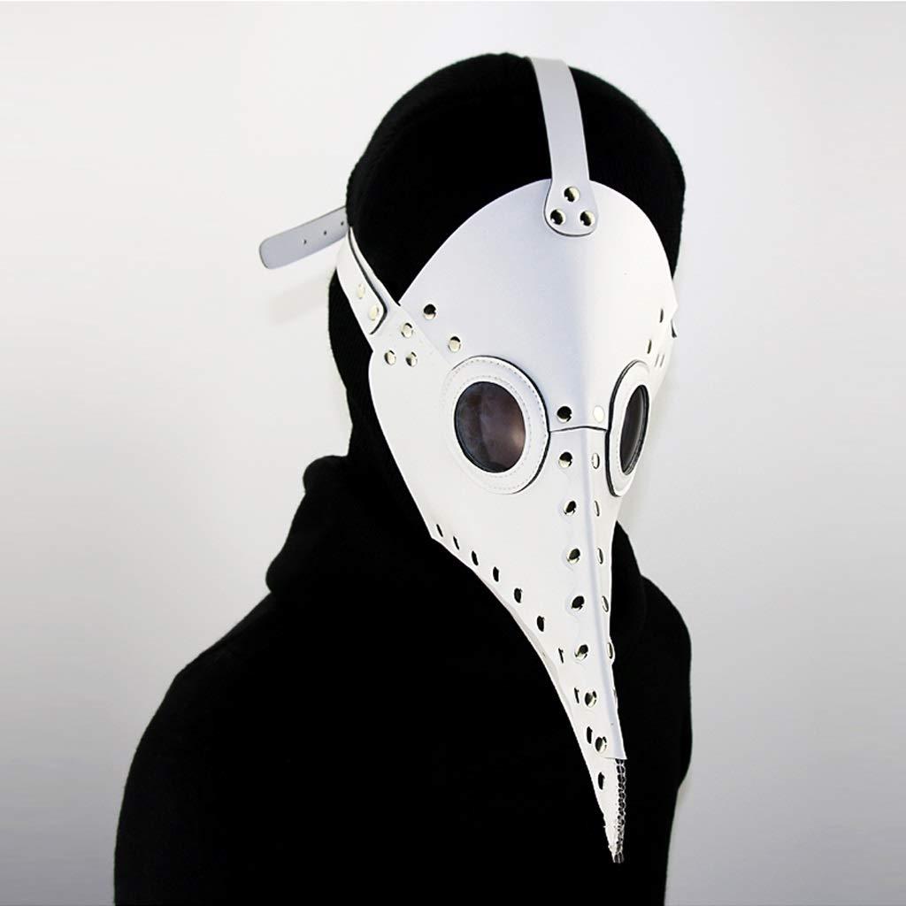 Gfdhj Halloween Horror Horror Horror Kostüm lange Mund Doktor Maske Cosplay Requisiten Geschenk Unisex - Erwachsene, weiß, schwarz, Single Größe (Farbe : Weiß, größe : A) 2945b8