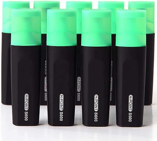 Z·Bling Subrayadores Fluorescentes,Juego de 10 Pack 6 Colores Resaltadores fosforescentes con Punta biselada Estrecha Tinta no tóxica para el hogar,la Escuela o la Oficina: Amazon.es: Hogar