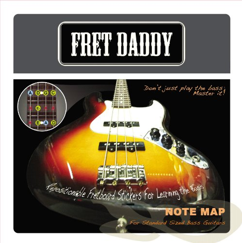 Fret Daddy Fretboard Notemap for Standard Sized Bass Guitar