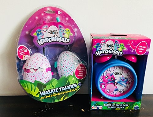 Perfect New   Exclusive Holiday Gift Set For Hatchimals Fans   Exclusive Light Up Twin Bell Alarm Clock With Quartz Accuracy   Hatchimals Walkie Talkie For Both Indoor And Outdoor Fun