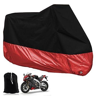 HomeLife Elements All Season Black Waterproof Sun Motorcycle Cover Waterproof UV Protection Heat - Moisture Guard Vent Sportbike With Lockholes
