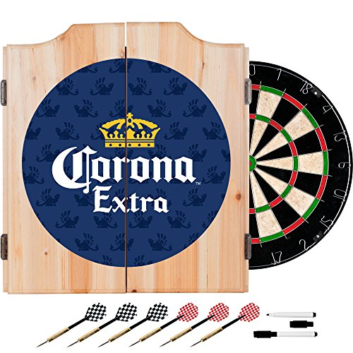 Trademark Gameroom Corona Extra Dart Board Set with Cabinet - Griffin - by Corona