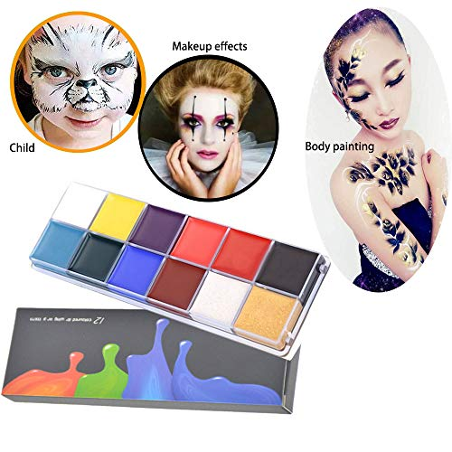 Halloween Makeup Tutorial Vampire Girl (N Noble One 12 color oil paint Makeup Professional Modeling Putty/Wax Special Effects Stage Makeup)