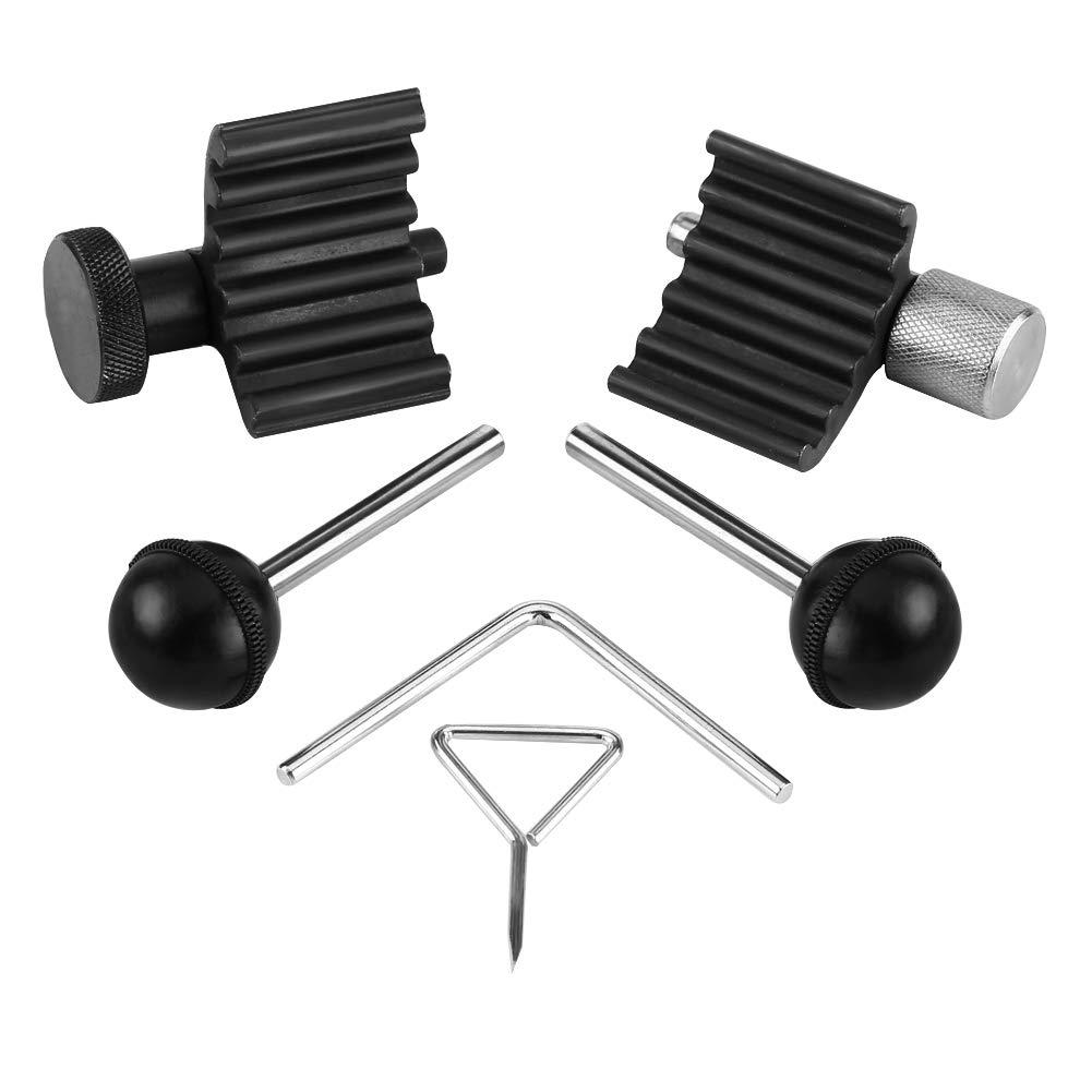 Juego de herramientas de distribuci/ón de motor 6 piezas de manivela y kit de herramientas de leva para 1.2 1.4 1.9 2.0 TDI PD herramientas de correa de distribuci/ón herramientas de sincronizaci/ón