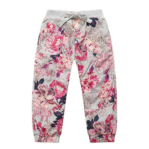 Richie House Girl's Cherry Blossom and Paisley Pants RH0909-6/7