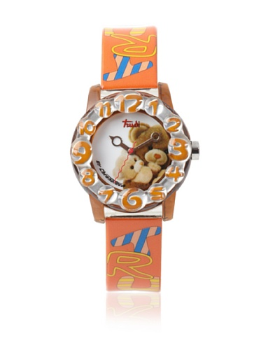 Trudi Kid's Teddy Bear Hugs Watch, Orange by Trudi