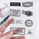 MALISTLN US Postage and Stamps Clear Stamps for DIY