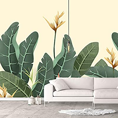 Premium Creation, Wonderful Creative Design, Wall Murals for Bedroom Green Plants Animals Removable Wallpaper Peel and Stick Wall Stickers