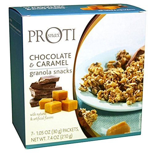 Proti-Thin - Chocolate & Caramel Protein Granola - Low Calorie - Low Fat - Low Sugar (7/Box)