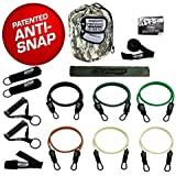The Bodylastics Combat Ready Warrior Resistance Band Sets come with 6 or 8 of Our Anti-Snap Exercise Tubes, Heavy Duty components, a Band Barrier and a small anywhere anchor.