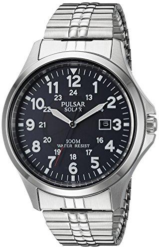 Pulsar Expansion Band (Pulsar Men's PX3069 Solar Expansion Analog Display Japanese Quartz Silver Watch)