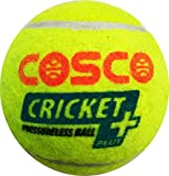 Cosco Cricket Plus Light Weight Cricket Ball Pack of 6 (Yellow)