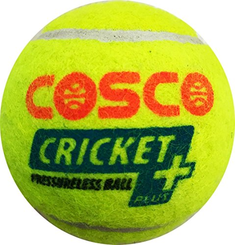 Cosco Cricket Plus Light Weight Cricket Ball Pack of 6 (Yellow) by Unknown