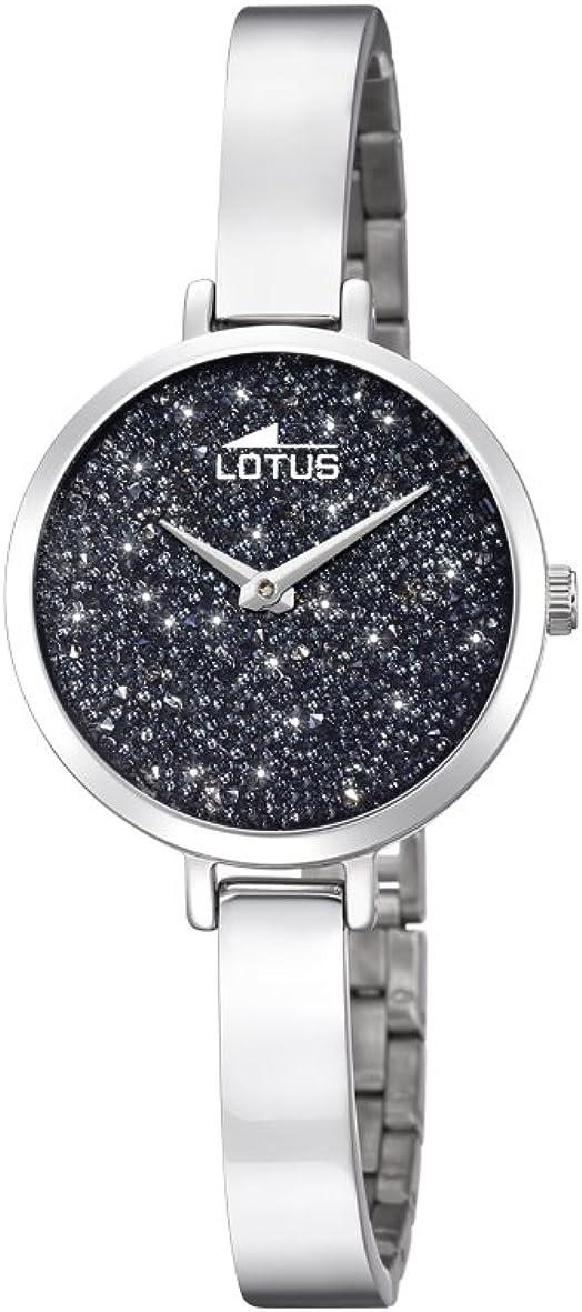 Lotus Watches Reloj Análogo clásico para Mujer de Cuarzo con Correa en Acero Inoxidable 18561/2